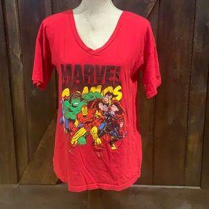 Marvel comics vneck t-shirt